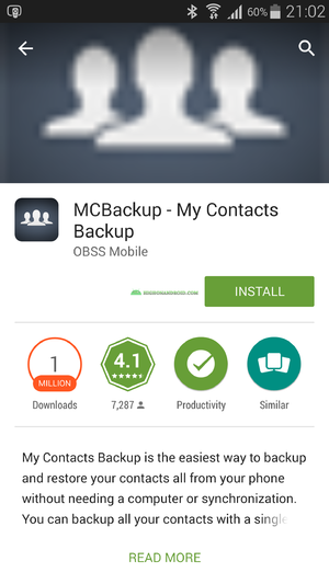 Windows Mobile Contacts Backup