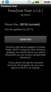 Приложение TimeZone Fixer для настройки часовых поясов