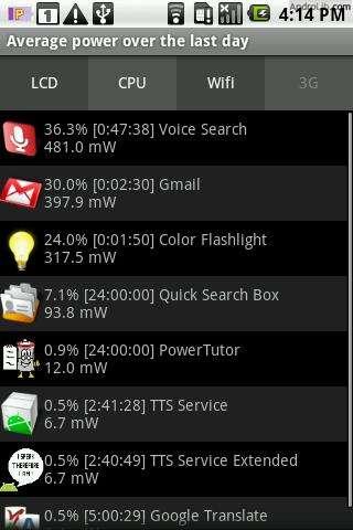 Приложение PowerTutor для контроля батареи ...: androidsfaq.com/apk/232