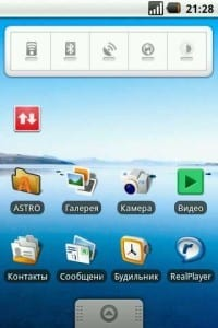 Интерфейс Android 1.6 «Donut» (Пончик)