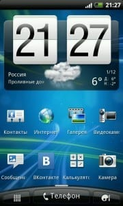 Интерфейс Android 2.3.x «Gingerbread» (Имбирный пряник) с HTC Sense 3.0