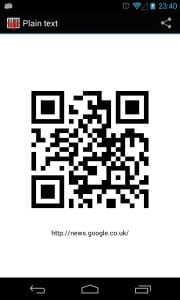 Приложение Barcode Scanner для распознавания QR-кодов