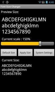 Приложение Font Size Changer для изменения размера шрифтов