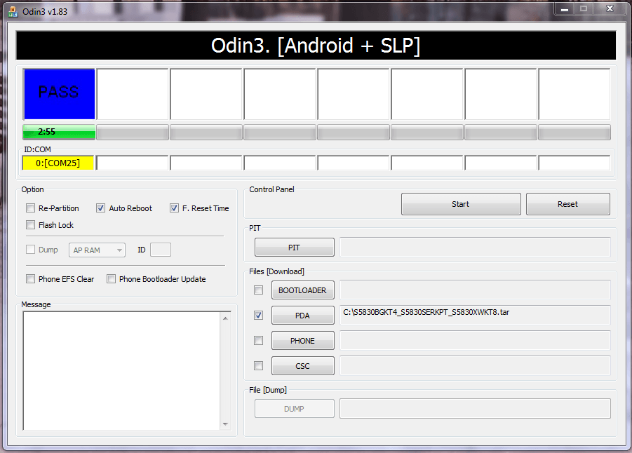 Программа Odin PASS