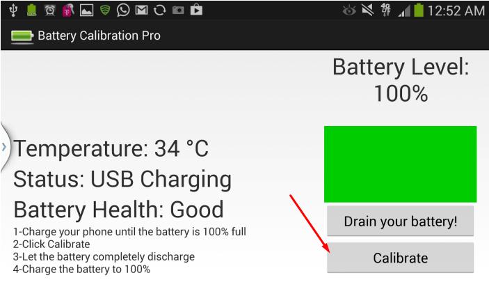 Калибровка батареи через программу Battery Calibration