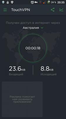 Подключили VPN