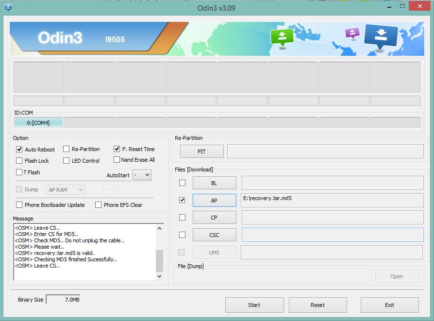 Добавление файла Recovery
