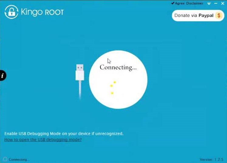 Поиск устройств в Kingo Root